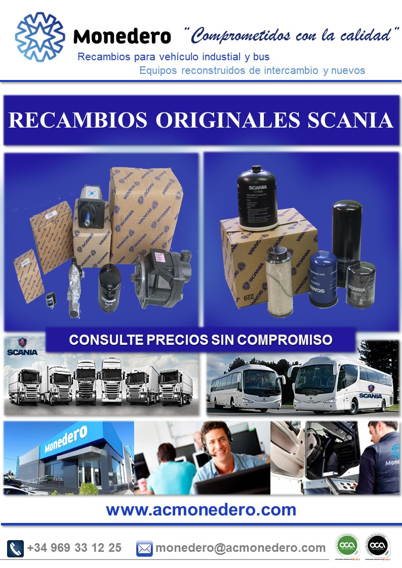 Repuestos originales SCANIA